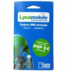Lycamobile - Tarjeta SIM prepago