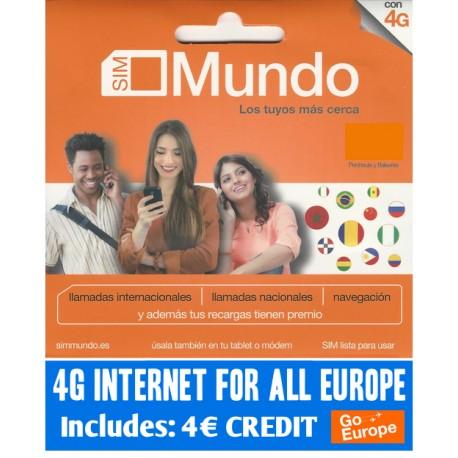 Идеально для связи по Европе и Испании - SIM карта Orange Mundo с начальным балансом 4 евро