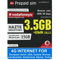 Vodafone Mega Yuser 3,5GB