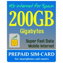 200GB сим-карта 4G интернет по Испании